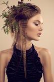 Профиль молодой привлекательной женщины Стоковые Фото
