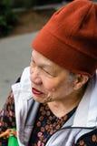 Профиль старший усмехаться женщин Стоковое Изображение RF