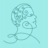 Профиль человеческой головы иллюстрация штока