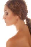 Профиль Tan, симпатичной женщины Стоковые Изображения