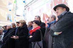 Профсоюзный руководитель итальянки Raffaele Bonanni, Rosanna Dettori и Сусанны Camusso Стоковое Фото