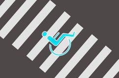 Проход для персоны с гандикапом Стоковое Изображение RF