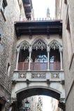 проход зданий barcelona стоковое изображение