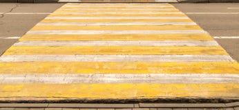 Проход пешеходного перехода на дороге Стоковые Фотографии RF