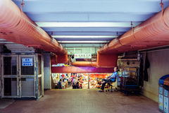 Проход водя к старому рынку, Гонконгу, Китаю Стоковая Фотография