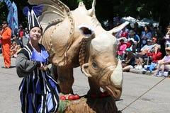 Проходит парадом круг Кливленд 2014 OH Стоковая Фотография