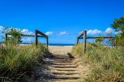 Проход к пляжу Стоковые Изображения