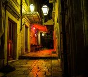 Проход на ноче Дубровнике Стоковое фото RF