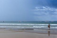 Проходя облака шторма Стоковые Изображения RF