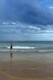 Проходя облака шторма Стоковые Фото