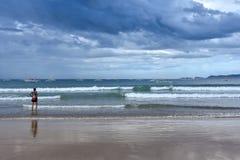 Проходя облака шторма Стоковая Фотография