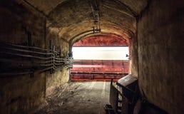 Проходя поезд в тоннеле метро Стоковое фото RF