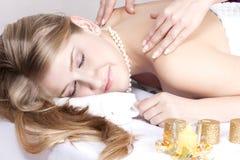 процедуры по массажа Стоковое Фото