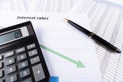 Процентные ставки Стоковая Фотография RF