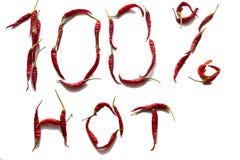 100 процентов горячий Стоковое Изображение RF