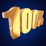 100 процентов на голубой предпосылке Стоковое Изображение