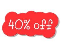40 процентов показывает распродажу дешево и зазор иллюстрация вектора