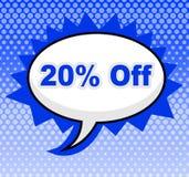 20 процентов с середин предлагают дешево и скидки иллюстрация штока