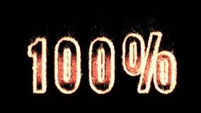100 процентов текста плазмы от огня изолированного в черноте сток-видео