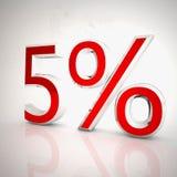 5 процентов Стоковые Фото