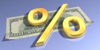 проценты золота Стоковые Фотографии RF
