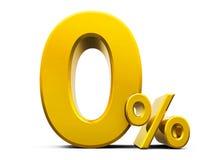 Проценты золота zero Стоковые Изображения