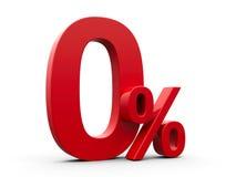 Проценты красного цвета zero иллюстрация штока