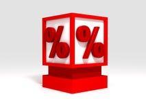 проценты кубика Стоковое Изображение RF