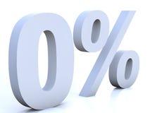 проценты нул Стоковая Фотография