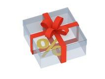 проценты подарка Стоковые Фотографии RF