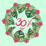 Проценты скидки 30% плаката продажи  иллюстрация штока