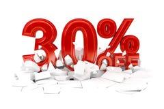 Проценты с продажи скидки стоковые изображения rf