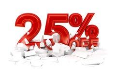 Проценты с продажи скидки стоковое изображение rf