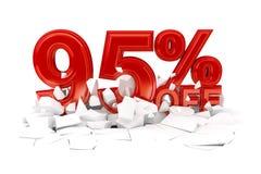 Проценты с продажи скидки стоковое фото rf