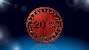 Проценты уценивают, анимация акции видеоматериалы