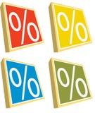 проценты Стоковое Изображение
