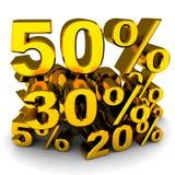 проценты Стоковое Изображение RF
