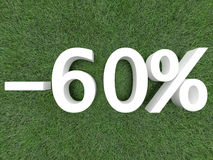 проценты 60 рабата Стоковое Изображение RF