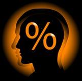 проценты Стоковые Фото