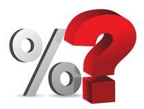 Процент и вопрос Стоковое фото RF
