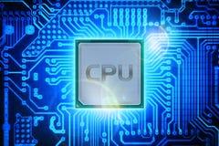Процессор компьютера Стоковое Изображение