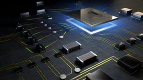 Процессор компьютера стоковые фотографии rf