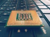 Процессор на компьтер-книжке Стоковые Фотографии RF