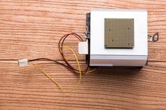 Процессор персонального компьютера процессор конца-вверх стоковые изображения rf