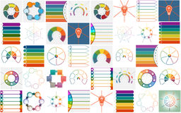 Процессы Infographics шаблонов вектора 40 цикловые иллюстрация штока