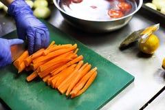 Процесс варить еду vegan Стоковое Фото