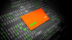 Процесс кодирования данных на экране таблетки бесплатная иллюстрация