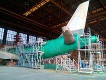 Процесс краски Airfarft обнажая Стоковая Фотография RF