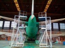 Процесс краски Airfarft обнажая Стоковое фото RF