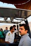 Процесс падения воздушного шара в Луксоре Стоковые Фото